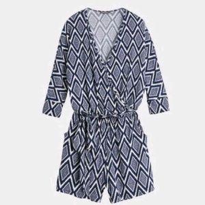 Market&Spruce Gennie Knit Romper Printed L/Sleeves